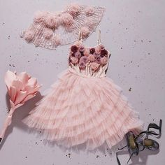 'The beauty of life is in each precious moment. Stop, and smell the roses' .the 'Smell the Roses Tutu Dress' from our new 'A Parisian Affair' Collection Flower Girl Dresses Boho, Dresses Kids Girl, Girl Outfits, Frocks For Girls, Kids Frocks, Kids Party Wear, Kids Gown, Baby Dress, Baby Tutu Dresses