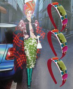 Headband inspired by Carine Roitfeld's Season edit in Harper's Bazaar March 2014