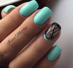 75 best turquoise nail art design ideas for 2019 Nail Art Design Gallery, Best Nail Art Designs, Acrylic Nail Designs, Acrylic Nails, Hair And Nails, My Nails, Long Nails, Short Nails, Turquoise Nail Art