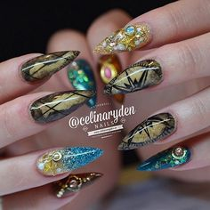 """Stiletto Nails Inspired by Disney's """"Pirates of The Caribbean"""""""