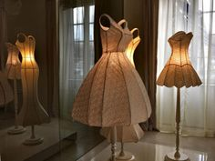 So cool! Haute Couture becomes beautiful lamps.