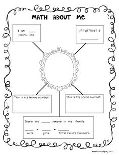 "I use this page at Math Night. My kindergarten families complete it together, but first and second graders could complete it independently at the beginning of the year as a ""getting to know you"" activity. It helps students see they use numbers ALL the time!"