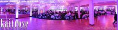 Purple Plum Uplighting inside the Grand ballroom within Palos Country Club.