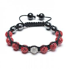 Valentines Day Gifts Bling Jewelry Valentine Shamballa Inspired Bracelet Red White Crystal Hematite 9mm Bling Jewelry. $19.99. Hematite stone accents. Shamballa inspired. Weighs 16.9 grams. Adjustable from 7-10 Inches in length. 9mm crystal ball bracelet