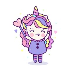 Kawaii Unicorn girl in fancy dress cute pony cartoon look like sweet donut cake food and drink, Pastel color: Fabulous fashion fairytale horse Birthday party - muffin for invitation post, t-shirt, nursery décor, hand drawn on white background. Doodles Kawaii, Chibi Kawaii, Horse Birthday, Unicorn Birthday Parties, Birthday Cartoon, Cartoon Cartoon, Unicorn Cat, Cute Unicorn, Kawaii Drawings