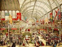 London 1851. The first world's fair called Great Exhibition at the Crystal Palace.