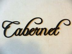 "Cabernet Word Metal Wall Art Kitchen Home Decor by JNJ Metalworks. $14.99. Hand Made in the USA. We do custom orders.. We can create words, names, logos and photos in metal.. Contact us today for details.. High Quality 16 Gauge Steel Construction. Metal Wall Art Decor Cabernet Wine Word, Made Of High Quality Steel Very Sturdy, Painted Black, In New Condition, Cabernet Measures 14 3/4"" Long By 4 "" Tall. Check out my other items! Be sure to add me to your favorites list! We e..."