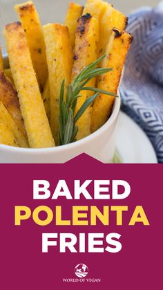 These baked #vegan #polenta #fries are to die for!