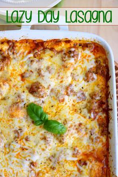 This easy Lasagna recipe is perfect for busy weeknights! An amazing comfort dish that the whole family will love. I use a few tricks and a super simple recipe that yields sensational results. Lasagna doesn't have to be reserved for weekends any longer! Lazy Lasagna, No Noodle Lasagna, Skinny Lasagna, Italian Recipes, Beef Recipes, Cooking Recipes, Pasta Recipes, Healthy Lasagna Recipes, Chicken Recipes