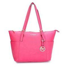 Fashion Michael Kors Jet Set Saffiano Top zip Medium Pink Totes Online!