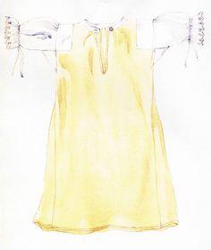 Ženská košeľa, Spišský Štvrtok, prvá štvrtina 20. storočia. Košeľa, košuľa má driek ušitý z jemnejšieho domáceho ľanového plátna a rukávy z tenkého bavlneného šifónu. Má rovný strih, s klinovým rozšírením v bokoch. Siahala pod kolená. Obliekala sa ako prvá, na holé telo. Nosila sa vo všedné aj sviatočné dni. V minulosti tvorila košeľa doplnená o živôtik a zásteru základný odev, ktorý sa nosil vo všedné dni v lete. Tie Dye, Tops, Women, Fashion, Moda, Fashion Styles, Tye Dye, Fashion Illustrations, Woman