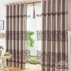 Curtain Ideas: Sound absorbing curtain panels Panel Curtains, Curtain Panels, Sound Absorbing, Curtain Ideas, King, Living Room, Home Decor, Blinds, Little Cottages