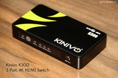 Kinivo K300 4K HDMI switch helps you to add more HDMI's as it extends your single HDMI port to 3 more extra ports.