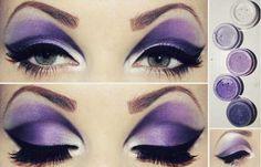 Try a dramatic purple cut crease eye! Make-up! Maquillage Ursula, Maquillage Halloween, Halloween Makeup, Eye Makeup, Makeup Art, Beauty Makeup, Hair Beauty, Makeup Eyebrows, Photo Makeup
