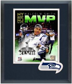 """Malcolm Smith Seahawks - Super Bowl XLVIII MVP 11"""" x 14"""" Framed/Matted Photo"""