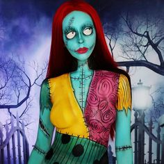 Sally Halloween Costume Ideas Movie Characters #Halloween #Costume #Makeup #Sally #Movie #Film #Character