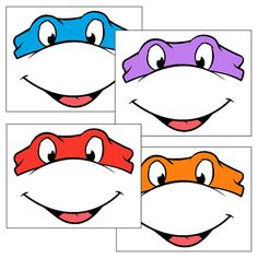 Descarga inmediata - ojos de las Tortugas Ninja con boca - globo pegatinas