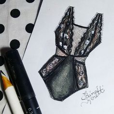 Croquis lingerie, feutre et crayon blanc - Tap the LINK now to see all our amazing accessories, that we have found for a fraction of the price <3