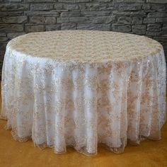 Round Sequins floral tablecloth - Wholesale Wedding Chair Covers l Wedding & Party Supplies Lace Tablecloth Wedding, Wedding Table Linens, Sequin Tablecloth, Wedding Table Decorations, Round Tablecloth, Wedding Chairs, Wedding Tables, Quince Decorations, Wedding Ideas