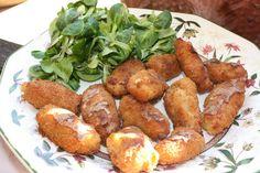 Recetas para Diabéticos y Celíacos Consejos Sanos: Croquetas de pollo, sin gluten ni lactosa, ni frit...