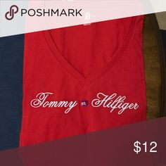 Tommy Hilfiger tshirt size XL Red Tommy Hilfiger tshirt. Never worn, prematurely took off the tags. Nice embroidery detail. Classic shirt that you can't go wrong with. Tommy Hilfiger Tops Tees - Short Sleeve