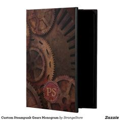 Custom Steampunk Gears Monogram Powis iPad Air 2 Case