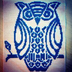 Cross stitch owl