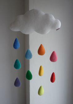 Regenbogen Wolke dekorative Baby mobile von alelale auf Etsy