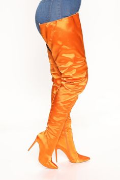 Hitting The Club Over The Knee Boots - Orange, Shoes | Fashion Nova Rompers Women, Jumpsuits For Women, Women Swimsuits, Orange Shoes, Lace Up Heels, Over The Knee Boots, Women Lingerie, Trendy Outfits, Lounge Wear