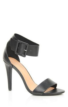 Deb Shops single sole high heel with band over toe and thick ankle strap $30.90