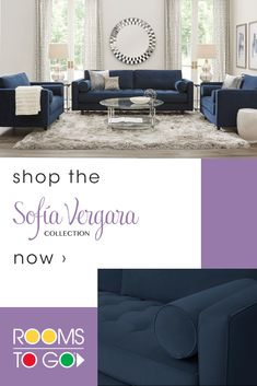 Elevate your home with the Rooms To Go Sofia Vergara Collection of living rooms, bedrooms and dining rooms today. Everyday elegance is at your fingertips! Living Room Sofa, Apartment Living, Dining Rooms, Living Room Furniture, Small Room Bedroom, Bedroom Decor, Interior Design Living Room, Living Room Designs, Living Room Decor Inspiration