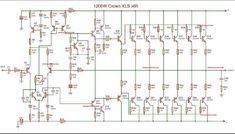 crown amplifier circuit diagram Dc Circuit, Circuit Design, Circuit Diagram, Crown Amplifier, Stereo Amplifier, Electronic Engineering, Electronic Circuit, Crown Audio, Electronics Basics