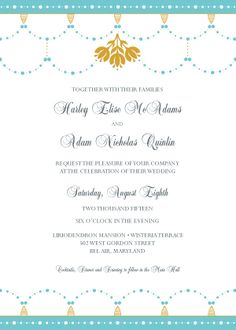 Wedding Invitation - Beaded Garland
