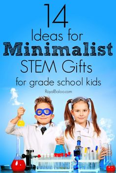Trying to limit the clutter and live a more minimalist lifestyle?  But birthdays, holidays, well-meaning family want to buy gifts.  Here's a short guide on great minimalist STEM gifts.