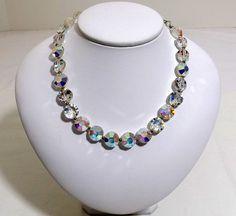 Stunning LISNER Aurora Borealis Necklace by KatsCache on Etsy, $124.95