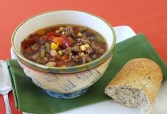Slow Cooker Vegetable Beef Soup -- 3 Stars -- JJ (like Mom's Knorr veggie soup minus the rice and with onion mix instead)