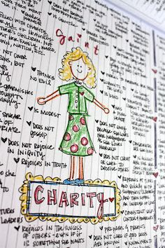 The Redheaded Hostess » Pride vs Charity Journal Entry (great teaching example as this relates to dating including questions)