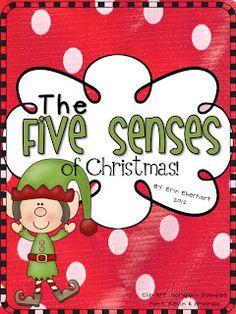 The 5 senses of Christmas freebie unit!