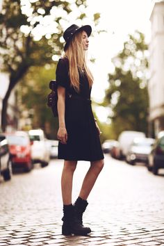 Anila ♡ - Pippa Lynn Dress, Grafea Backpack - ALLBLACK | LOOKBOOK