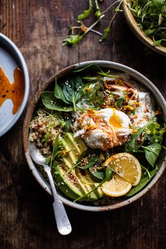 breakfast today: a Turkish egg and quinoa breakfast bowl. I pretty much always post sweet breakfast recipes. I… The post Turkish Egg and Quinoa Breakfast Bowl. appeared first on Half Baked Harvest. Quinoa Breakfast Bowl, Breakfast And Brunch, Quinoa Bowl, Breakfast Ideas, Brunch Food, Mexican Breakfast, Breakfast Pizza, Breakfast Healthy, Quinoa Spinach