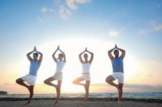 Doing yoga on the beach is an entirely different experience! Try it out an Dreams Punta Cana Resort & Spa!