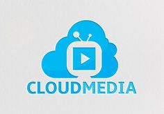 Cloud Media logo vector template for download. Print ready and editable design