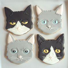 CAT w/ funny face cookies ★ More on #cats - Get Ozzi Cat Magazine here >> http://OzziCat.com.au ★