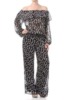 2c98269e0a01 Gray Printed Off Shoulder Jumpsuit (FREE SHIPPING)
