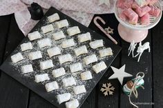 dream pieces with marzipan marzipan plaetchen christmas baking recipes c . How To Cook Asparagus, Asparagus Recipe, Christmas Desserts, Christmas Baking, Bakery Recipes, Cookie Recipes, Pillow Cookies Recipe, Cooking Supplies, Cooking Blogs