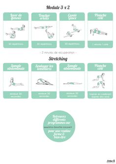 Abdominaux béton intense : il s'agit d'exercices dynamiques d'abdominaux.