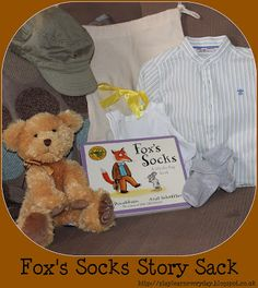Play & Learn Everyday: Fox's Socks Story Sack