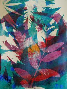 Vegetation, gelliprint by Sanneke Griepink