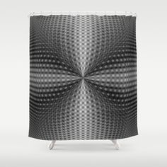 A digital abstract fractal image with a circular geometric design in black and white by Objowl.
