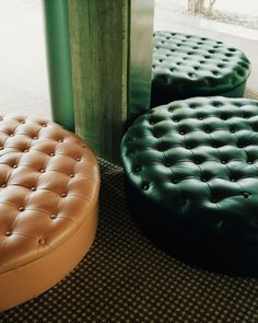 Modernist Romance by Salva Lopez for Monocle Mediterraneo - love the emerald leather tufted ottoman